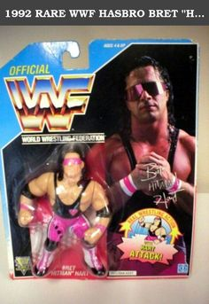 "1992 RARE WWF HASBRO BRET ""HITMAN"" HART BLUE CARD. Bret Hart features the Hart Attack Move."