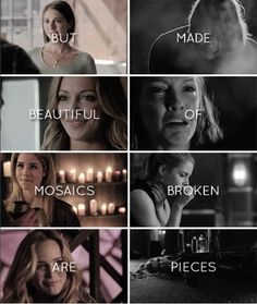 but beautiful mosaics are made of broken pieces #arrow