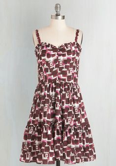 Spread a Little Sweetness Dress. You put as much love into your daily looks as you do your homemade treats, and this white and rhubarb-red frock by Book of Deer is your latest recipe for success. #purple #modcloth