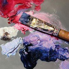 """""""Purple Haze"""" by Lisa Ober Oil on panel, 6"""" x 6"""" http://www.artgroup360.com/"""