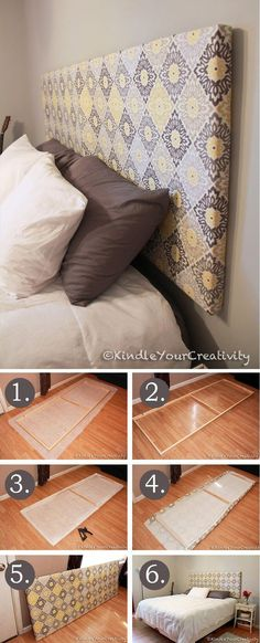 Bedroom makeover rustic diy headboards 49 Ideas for 2019 Diy Home Decor For Apartments, Apartment Decorating On A Budget, Diy Home Decor On A Budget, Apartment Design, Apartment Ideas, Diy Headboards, Headboard Ideas, Farmhouse Headboards, Headboard Makeover