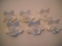 Vintage Coalport Place Card Holders From by SeaPillowTreasures, $47.95
