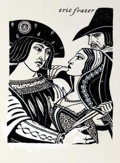 ERNANI by ERIC FRASER, pen and ink with bodycolour on board