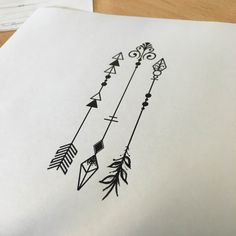 Arrow tattoo, simple arrow tattoo, tattoo outline, tattoos for kids, ta Grey Ink Tattoos, Arrow Tattoos, Body Art Tattoos, Tattos, White Tattoos, Simple Arrow Tattoo, Arrow Tattoo Design, Arrow With Feather Tattoo, Geometric Arrow Tattoo
