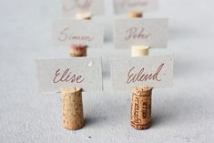 DIY Cork Name Tags - Morning Creativity