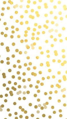 Confetti wallpaper background gold