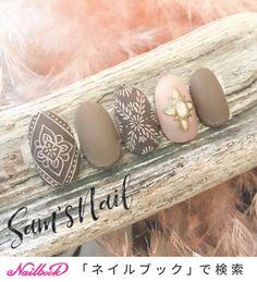 in 2020 Water Nail Art, Water Nails, Elegant Nail Designs, Toe Nail Designs, Stylish Nails, Trendy Nails, Round Nails, Japanese Nails, Nail Patterns