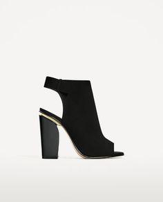 Image 2 de BOTTINES EN CUIR OUVERTES À L  de Zara Chaussures Ouverte Femme, 1ff20282a1c1