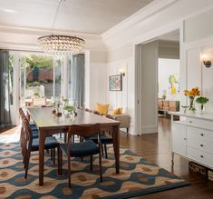 Light & Classic - contemporary - dining room - san francisco - Sutro Architects. Credenza legs