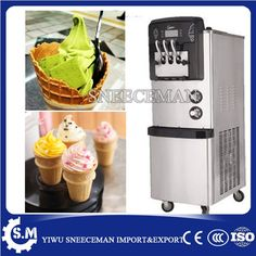 1435.00$  Watch now - http://aliy66.shopchina.info/1/go.php?t=32816277098 - 24-28L/H 3 flavors vertical soft serve ice cream machine ice cream making machine yogurt maker machine  #shopstyle