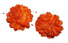 Hair Bows - Set of 2 New Piggy Tail Glitter Mesh Silk Flower Hair Bow Alligator Clips #WebbDirect2U #Hair_Bows