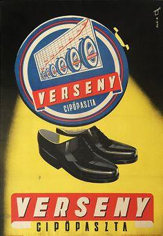 Race shoe polish (Sinka, Mátyás - 1950 - cca. 55 x 84 cm)