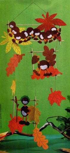 Risultati immagini per herbst paper craft Autumn Crafts, Fall Crafts For Kids, Autumn Art, Autumn Theme, Holiday Crafts, Art For Kids, Fall Preschool, Preschool Crafts, Autumn Activities