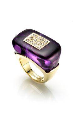 Amethyst Mosaic Ring #purple haze