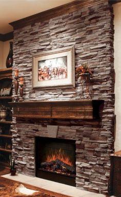 Coronado Stone / Virginia Ledge   Cape Cod Grey   Stone Veneer Fireplace  Geek God Moore Jarboe Are You Going To Do This For Us When We Get A House  With A ...