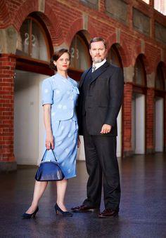 Craig McLachlan as Dr. Lucien Blake & Nadine Garner as Jean Beazley in The Doctor Blake Mysteries