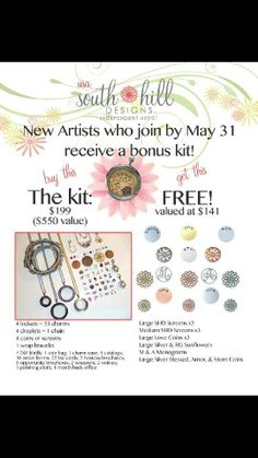 WOW!!! Now is the time to JOIN South Hill Designs. Look at all the free product you get with your 199. Kit.. Are you looking for a new opportunity? SHD is in the US, PR, Canada and Just Launched into the UK with more countries coming soon.  www.southhilldesigns.comproverb3110