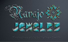 Photoshop Style – Navajo Jewelry #Photoshop #Layers #Effects #Text #Design