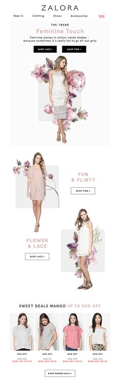 #web #weblayout #website #newsletter #email #flower #floral #summer #sale
