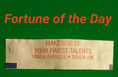 #FortuneoftheDay #fortunecookie #fortune
