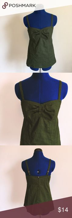 Patagonia Tank Forest green tank from Patagonia in like-new condition; no flaws. 55% hemp, 45% organic cotton. Zipper closure at back and adjustable straps for a perfect fit. Size 6. Patagonia Tops Tank Tops