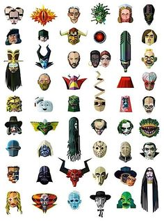 50 Movie Bad Guys, and Few Gals.