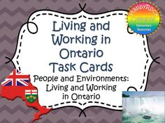 Living and Working in Ontario Task Cards 2nd Grade Math, Third Grade, Grade 3, Fourth Grade, Primary Science, Primary Education, School Classroom, School Fun, Ontario