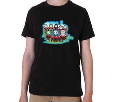 Thomas tank engine Clip graphic printed youth toddler tshirt
