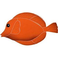 Tang Fish - Orange - Pool Mosaic