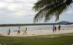 Prime waterfront positions - Cotton Tree Holiday Park Holiday Park, Sunshine Coast, Go Camping, Caravan, Places To Go, Bucket, Beach, Water, Cotton