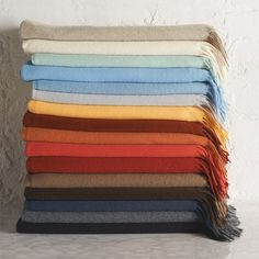 Wrap yourself in luxury and warmth year-round with this finely woven 100% cashmere throw. 20% off of all throws for a limited time! #williamssonoma #luxuryliving