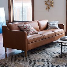 Hamilton Leather Loveseat | West Elm
