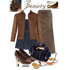 I'd wear pants instead of a skirt with it though (especially not a brown skirt)
