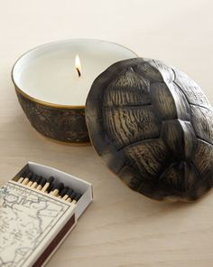 Turtleshell-Lidded Candle by L\'Objet at Neiman Marcus.