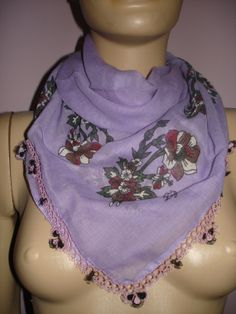 CROCHET Tatting  scarf for women for children for by PUREWHITEDECO, $39.00
