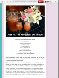 Founders Day Punch from Gilmore Girls!!!