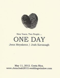 Our Save the Date Cards