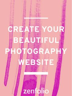 Start building your own photography site today with Zenfolio: The all-in-one solution for elegant custom websites, built just for photographers. #Zenfolio