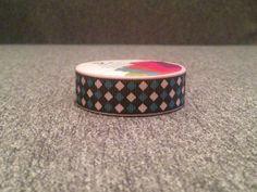 Rombos rosas y azul para rollo #Washi  tape cinta por YBatchi #masking #scrap