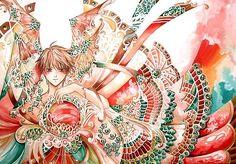 Hot Anime Illustrations by Nina Listyani Manga Art, Manga Anime, Manga Watercolor, Dragon Bird, Wall Candy, Magical Creatures, Various Artists, Anime Guys, Hot Anime