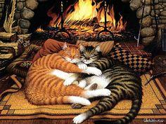 Cat art  Charles Wysocki