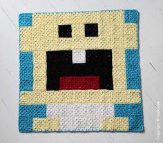 Baby crochet pixel plaid by HOOKLOOK