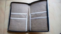 JUTE FILES INSIDE VIEW ZIPPED COVERED WITH 4 folders