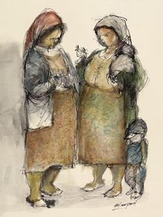 Gossiping Women by Amos Langdown -Photolithography Re-production Beauty In Art, South African Artists, She Is Fierce, Michelangelo, Mother And Child, Online Art Gallery, Masters, Faces, Passion