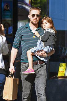 Ryan Gosling and Eva Mendes' Daughter Esmeralda Looks so Grown Up Eva Mendes Daughters, Eva Mendes And Ryan, Ryan Gosling Style, Ryan Thomas, Dad Daughter, Old Women, Pretty Face, Male Models, Hot Guys
