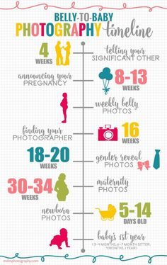 Belly to Baby Photography Timeline; #NewbornPhotos, #PregnancyTimeline