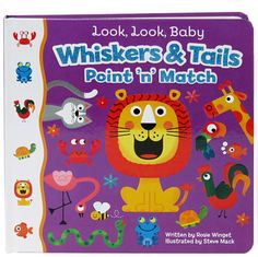 Point-n-match books build early math skills. These board books are perfect to engage active toddlers. Look and find animals, shapes, and colors.