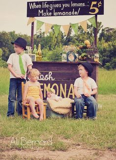Lemonade Stand Photography Prop Banner / Baby by nhayesdesigns, $22.00