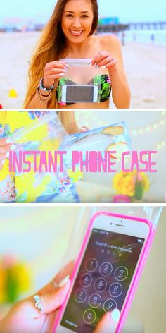 A Ziplock Bag Protects Phones | 22 DIY Beach Hacks for Teens that will change your life!