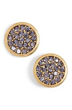 LONNA & LILLY Pavé Disc Stud Earrings available at #Nordstrom